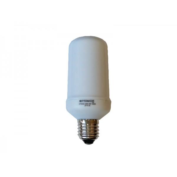 LED láng hatású izzó, 3 féle funkcióval